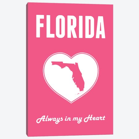 Florida - Always in my Heart Canvas Print #BPP250} by Benton Park Prints Canvas Art