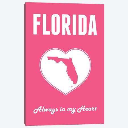 Florida - Always in my Heart Canvas Print #BPP250} by Benton Park Prints Canvas Art