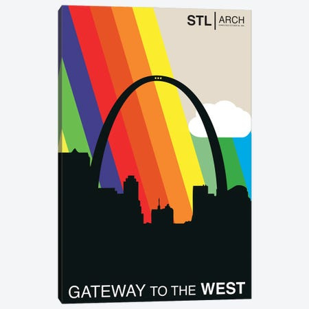 Gateway To The West - St. Louis Canvas Print #BPP251} by Benton Park Prints Canvas Artwork