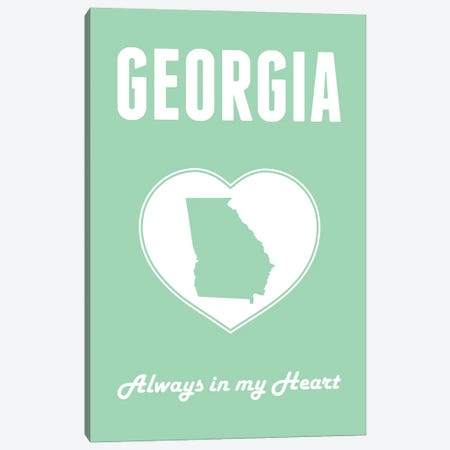 Georgia - Always in my Heart Canvas Print #BPP255} by Benton Park Prints Canvas Art Print