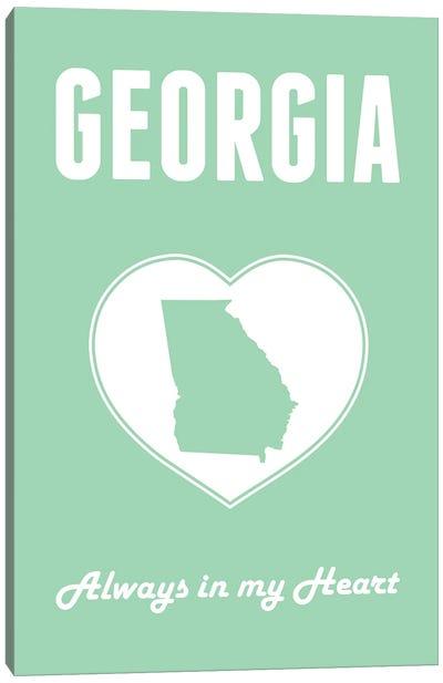 Georgia - Always in my Heart Canvas Art Print