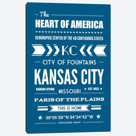Kansas City - Typography Print Canvas Print #BPP256} by Benton Park Prints Canvas Art Print