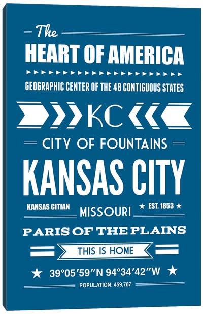 Kansas City - Typography Print Canvas Art Print