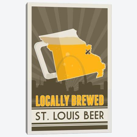 Locally Brewed Beer - St. Louis Canvas Print #BPP257} by Benton Park Prints Canvas Print