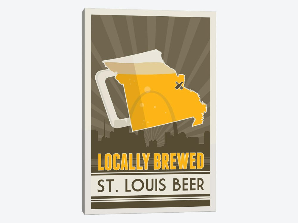 Locally Brewed Beer - St. Louis by Benton Park Prints 1-piece Canvas Wall Art