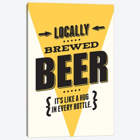 Beer - It's Like A Hug In Every Bottle Canvas Print #BPP258} by Benton Park Prints Canvas Art