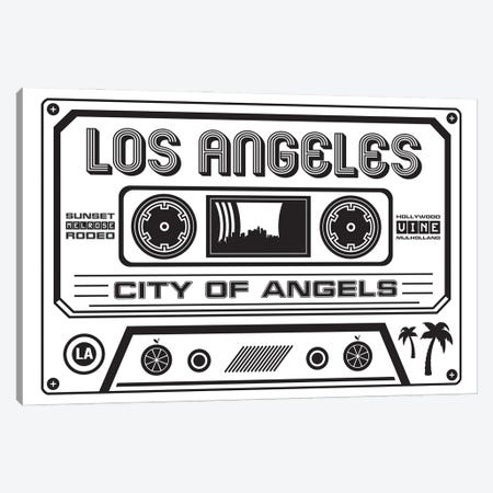 Los Angeles Cassette - Light Background Canvas Print #BPP260} by Benton Park Prints Art Print