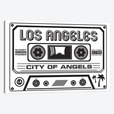 Los Angeles Cassette - Light Background Canvas Print #BPP260} by Benton Park Prints Art Print