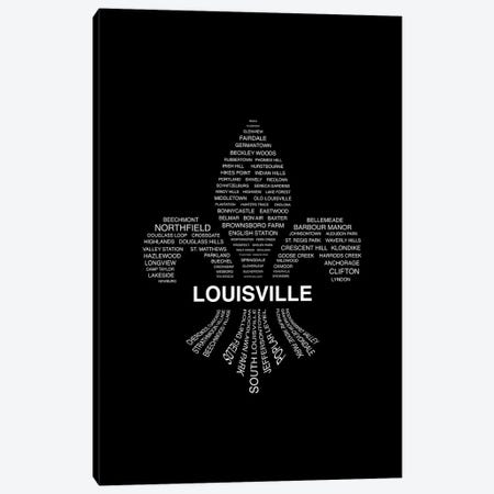 Louisville - Fleur-De-Lis Neighborhoods Canvas Print #BPP261} by Benton Park Prints Canvas Print