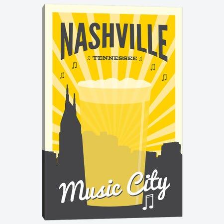Nashville Music City Canvas Print #BPP266} by Benton Park Prints Canvas Art