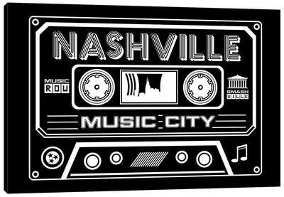 Nashville Cassette - Dark Background Canvas Art Print