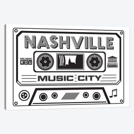 Nashville Cassette - Light Background Canvas Print #BPP268} by Benton Park Prints Canvas Print