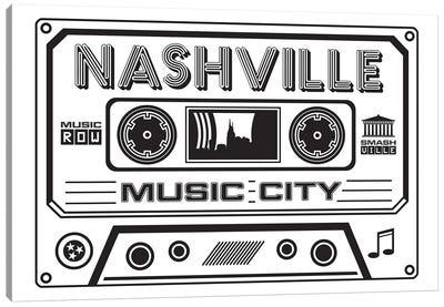 Nashville Cassette - Light Background Canvas Art Print
