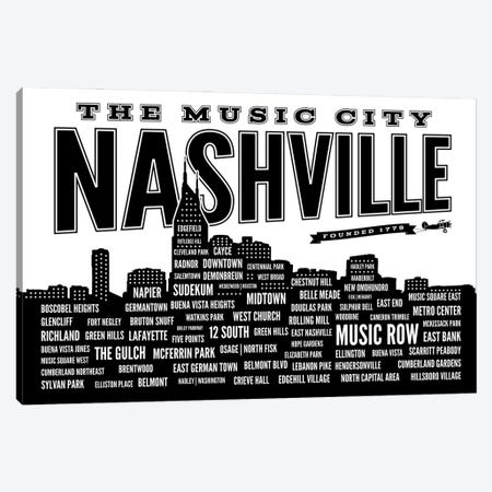 Nashville Neighborhoods Canvas Print #BPP269} by Benton Park Prints Canvas Print