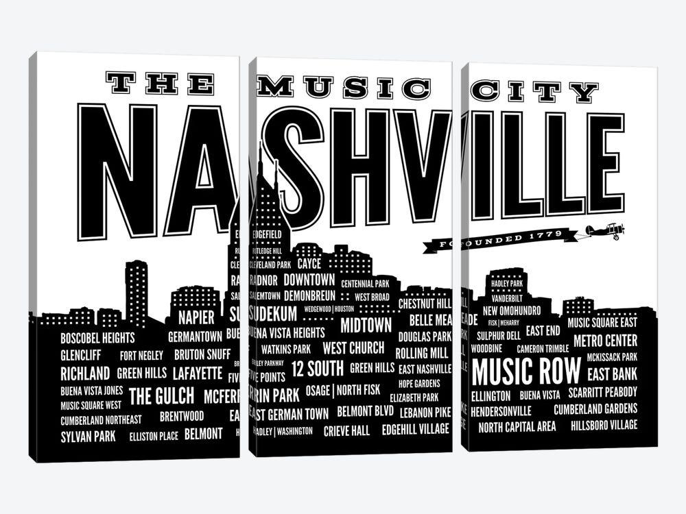 Nashville Neighborhoods by Benton Park Prints 3-piece Art Print