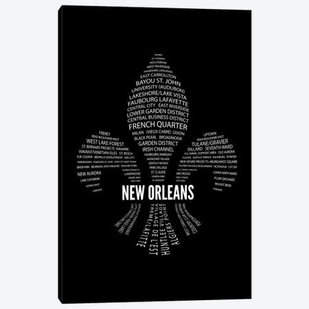 New Orleans Fleur-De-Lis Neighborhoods Canvas Print #BPP270} by Benton Park Prints Canvas Artwork