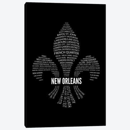New Orleans Fleur-De-Lis Neighborhoods Canvas Print #BPP270} by Benton Park Prints Canvas Artwork