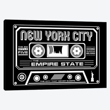 New York City Cassette - Dark Background Canvas Print #BPP271} by Benton Park Prints Canvas Art