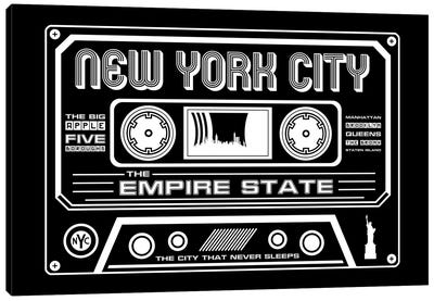 New York City Cassette - Dark Background Canvas Art Print