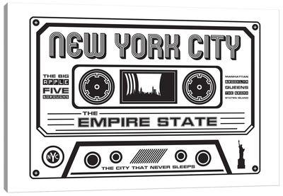 New York City Cassette - Light Background Canvas Art Print