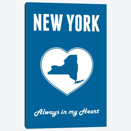 New York - Always In My Heart Canvas Print #BPP273} by Benton Park Prints Canvas Artwork