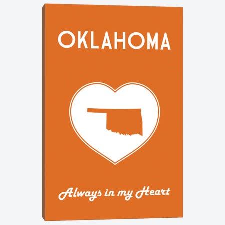 Oklahoma - Always In My Heart Canvas Print #BPP274} by Benton Park Prints Canvas Art Print