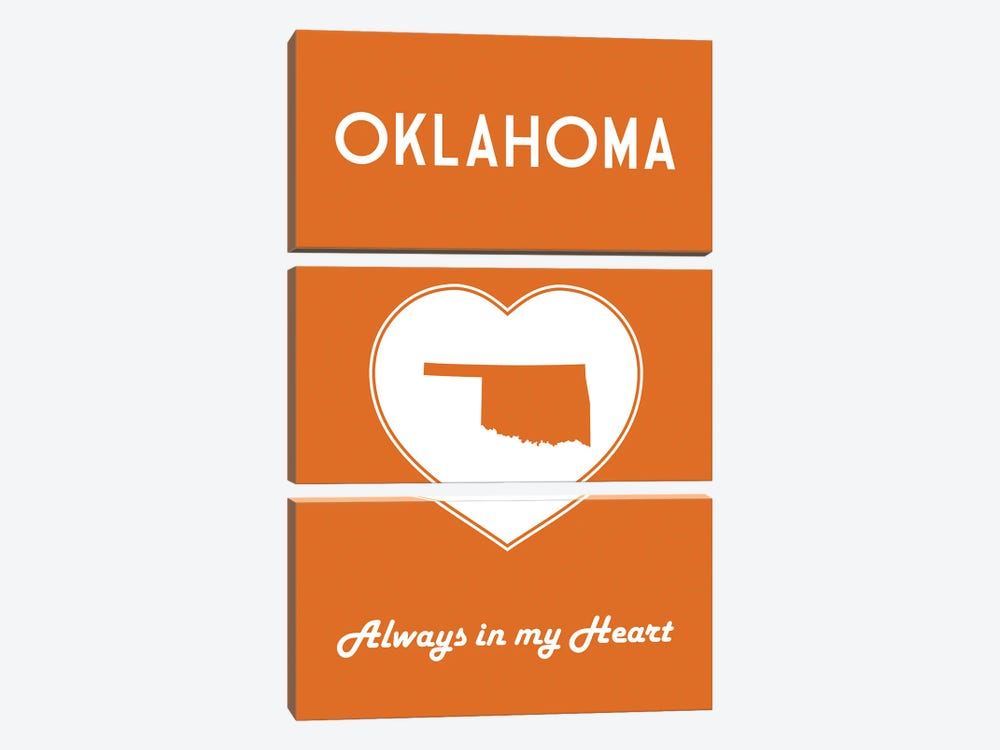 Oklahoma - Always In My Heart by Benton Park Prints 3-piece Canvas Art Print
