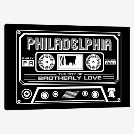 Philadelphia Cassette - Dark Background Canvas Print #BPP276} by Benton Park Prints Art Print