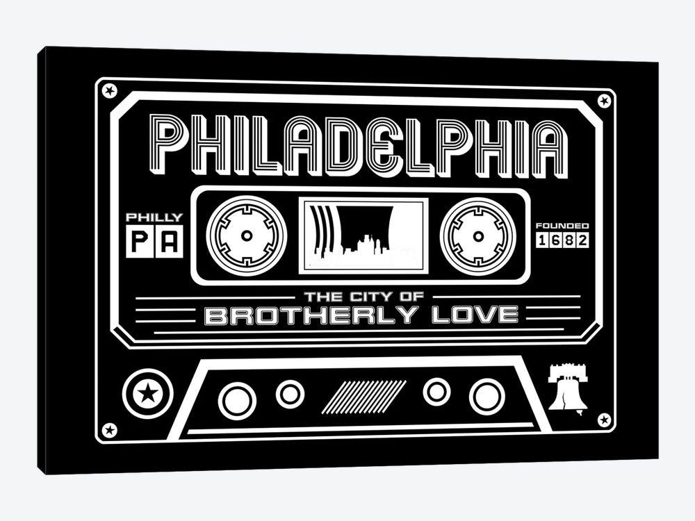 Philadelphia Cassette - Dark Background by Benton Park Prints 1-piece Canvas Print