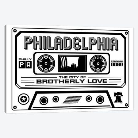 Philadelphia Cassette - Light Background Canvas Print #BPP277} by Benton Park Prints Canvas Art Print