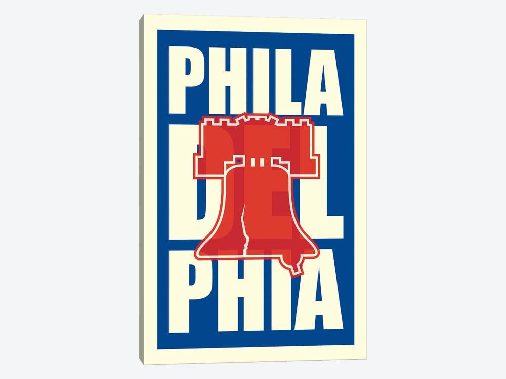 Philadelphia Typography LIberty Bell by Benton Park Prints 1-piece Canvas Art Print
