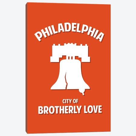 City of Brotherly Love Canvas Print #BPP279} by Benton Park Prints Canvas Artwork