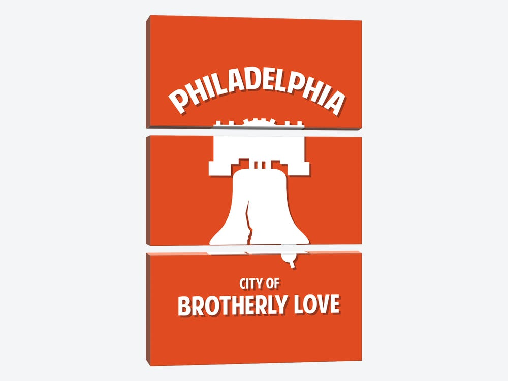 City of Brotherly Love by Benton Park Prints 3-piece Canvas Art