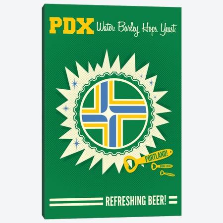 Portland Refreshing Beer 3-Piece Canvas #BPP281} by Benton Park Prints Canvas Print