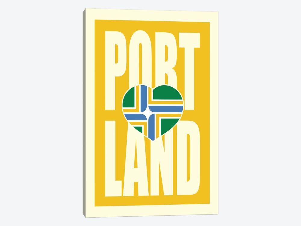 Portland Typography Flag by Benton Park Prints 1-piece Canvas Art