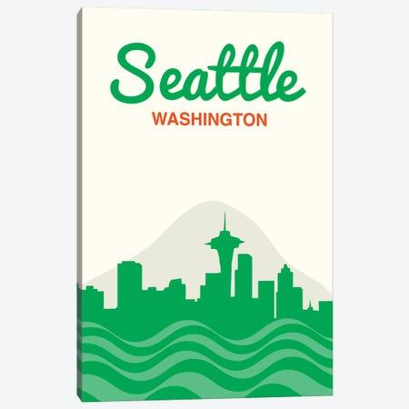 Seattle Skyline Canvas Print #BPP286} by Benton Park Prints Canvas Wall Art