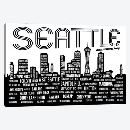Seattle Neighborhoods Canvas Print #BPP289} by Benton Park Prints Art Print