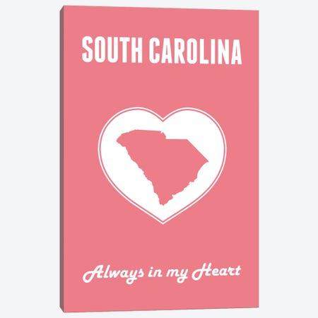 South Carolina - Always In My Heart Canvas Print #BPP292} by Benton Park Prints Canvas Wall Art