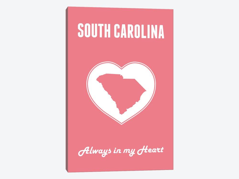 South Carolina - Always In My Heart by Benton Park Prints 1-piece Canvas Art Print