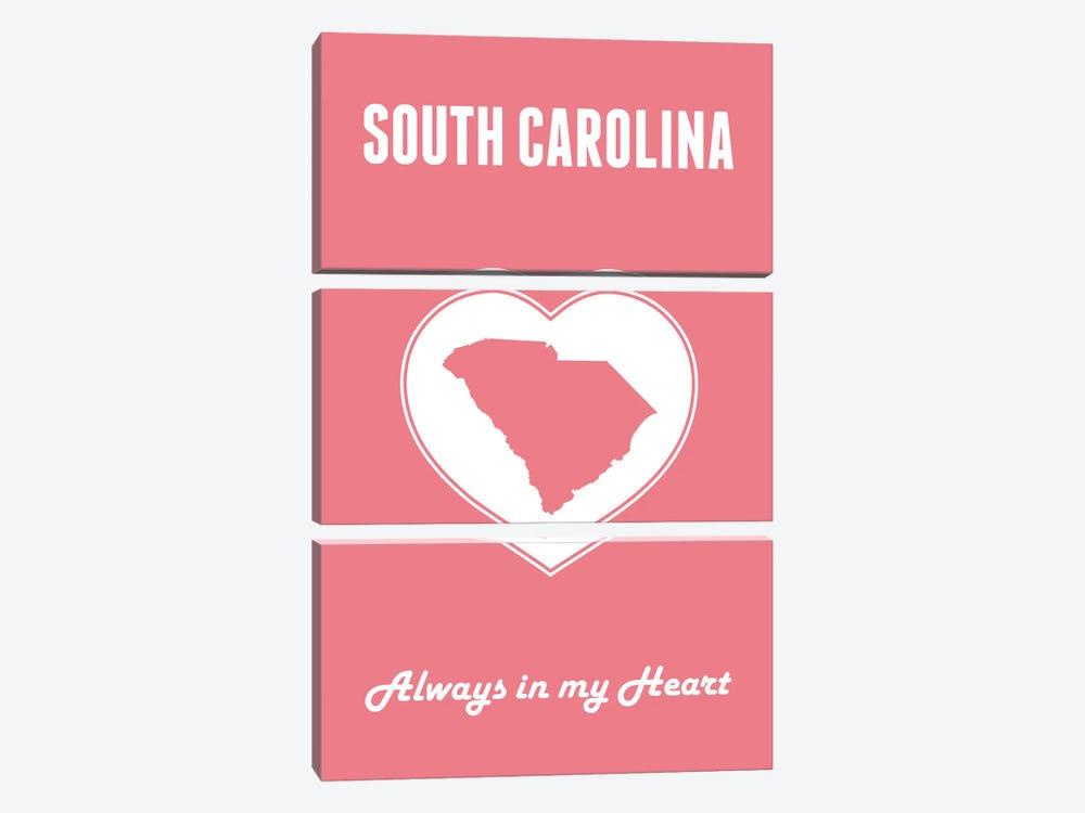 South Carolina - Always In My Heart by Benton Park Prints 3-piece Canvas Art Print