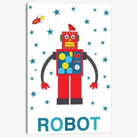 Robot Rocket Canvas Print #BPP293} by Benton Park Prints Canvas Wall Art