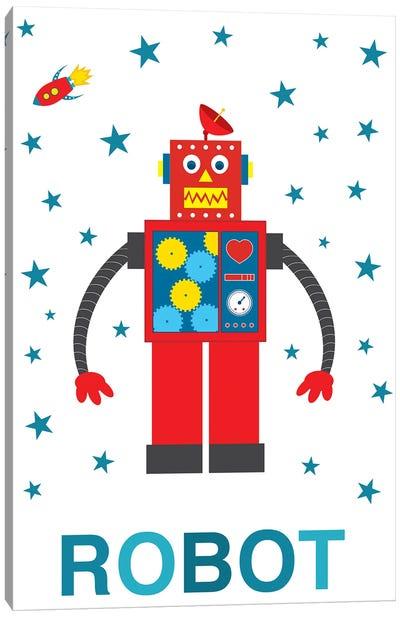 Robot Rocket Canvas Art Print