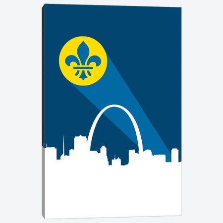 St. Louis Superhero Signal 3-Piece Canvas #BPP299} by Benton Park Prints Canvas Artwork