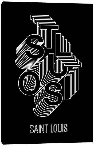 St. Louis Steps - Dark Background Canvas Art Print