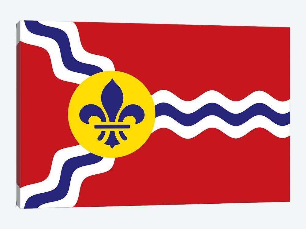 St. Louis Flag by Benton Park Prints 1-piece Canvas Wall Art