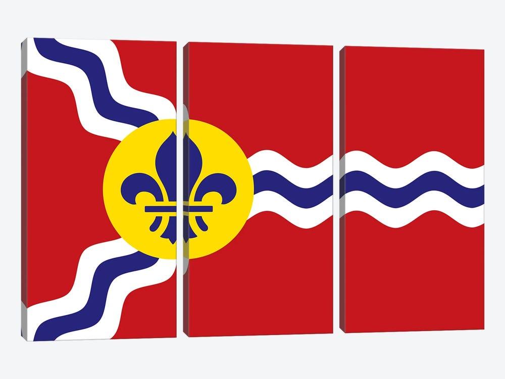 St. Louis Flag by Benton Park Prints 3-piece Canvas Artwork