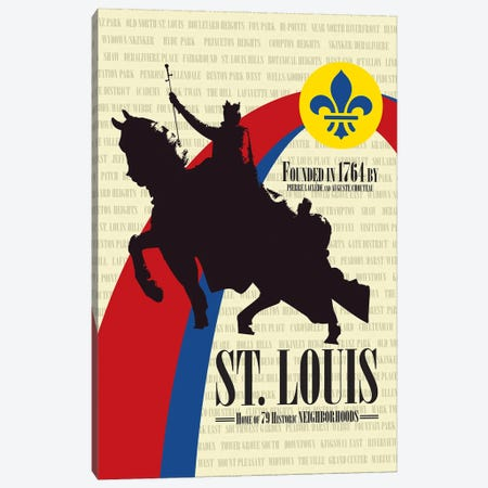 St. Louis - Founded in 1764 Canvas Print #BPP305} by Benton Park Prints Canvas Art Print