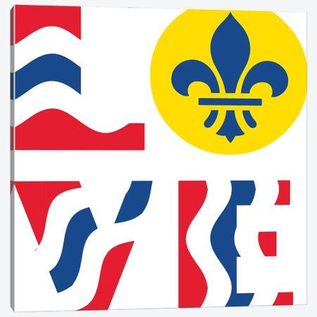 LOVE - St. Louis Flag Canvas Print #BPP307} by Benton Park Prints Art Print