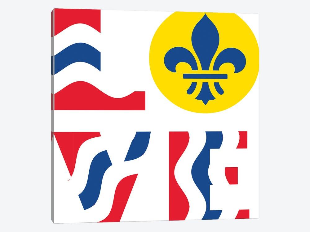 LOVE - St. Louis Flag by Benton Park Prints 1-piece Canvas Art
