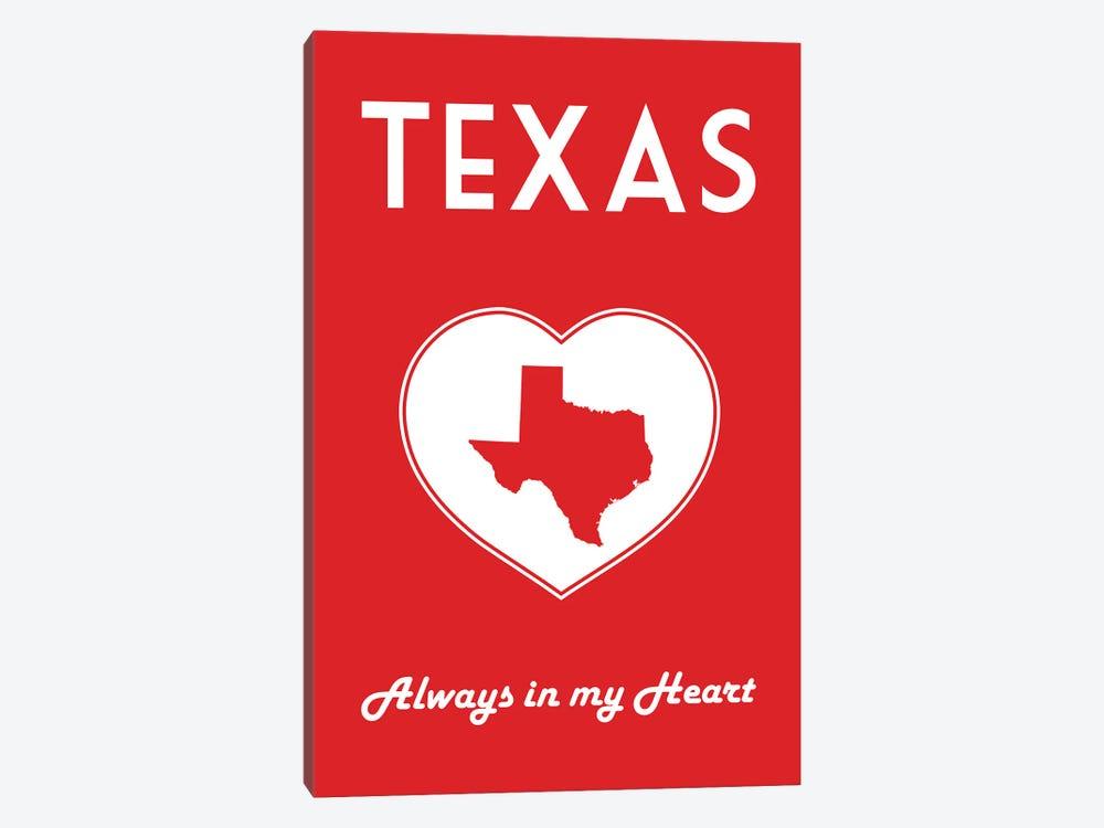 Texas - Always In My Heart by Benton Park Prints 1-piece Canvas Wall Art